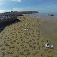 Fantasztikus installáció készült a D-Day helyszínén