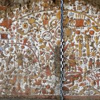 Szuperrészletes kép a mocsikák faláról