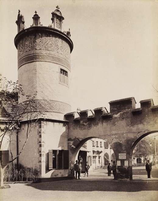 Az Ős-Budavára mulatókomplexum egyik tornya. <br /><br />Forrás: Fortepan / Budapest Főváros Levéltára. Levéltári jelzet: HU.BFL.XV.19.d.1.09.114