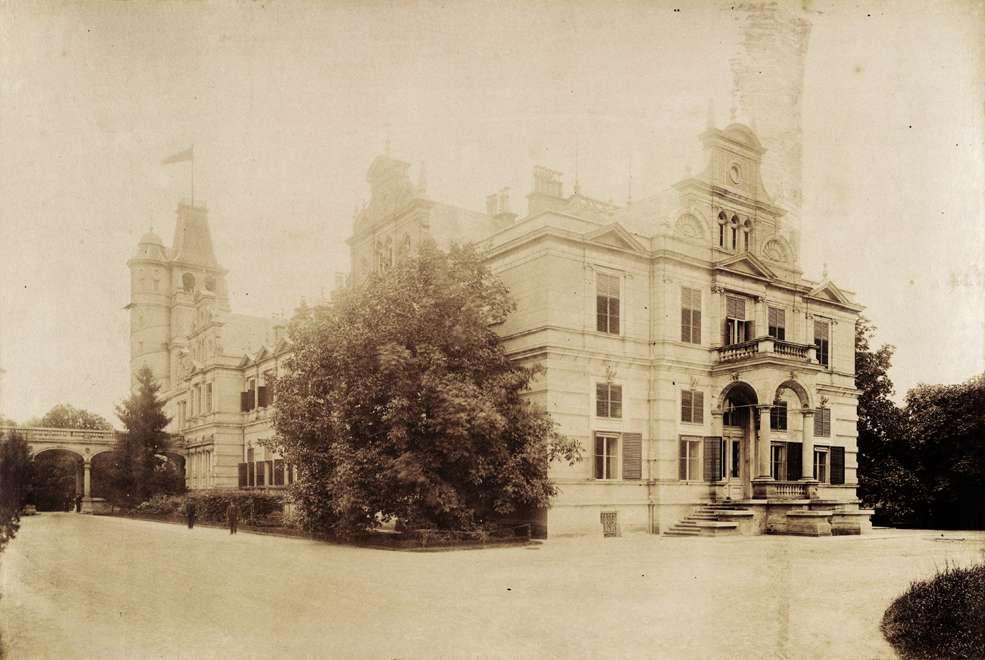 Wenckheim-kastély. A felvétel 1895-1899 között készült. Kép: Fortepan / Budapest Főváros Levéltára. Levéltári jelzet: HU.BFL.XV.19.d.1.11.203