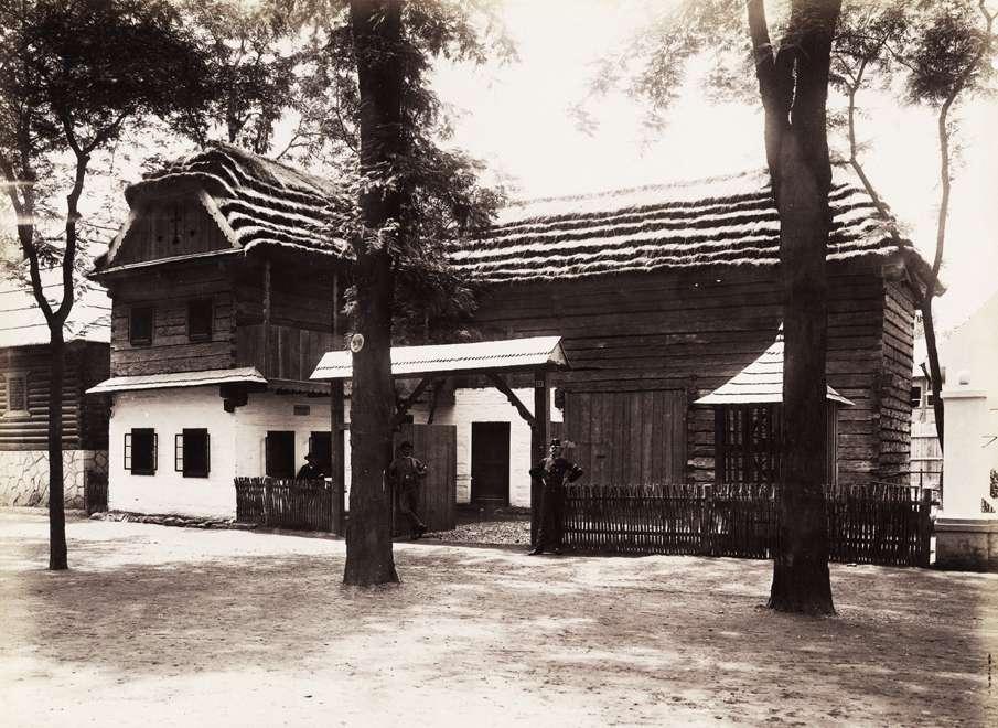 A Nyitra megyei handlovai ház (Néprajzi Falu). <br /><br />Forrás: Fortepan / Budapest Főváros Levéltára. Levéltári jelzet: HU.BFL.XV.19.d.1.09.184