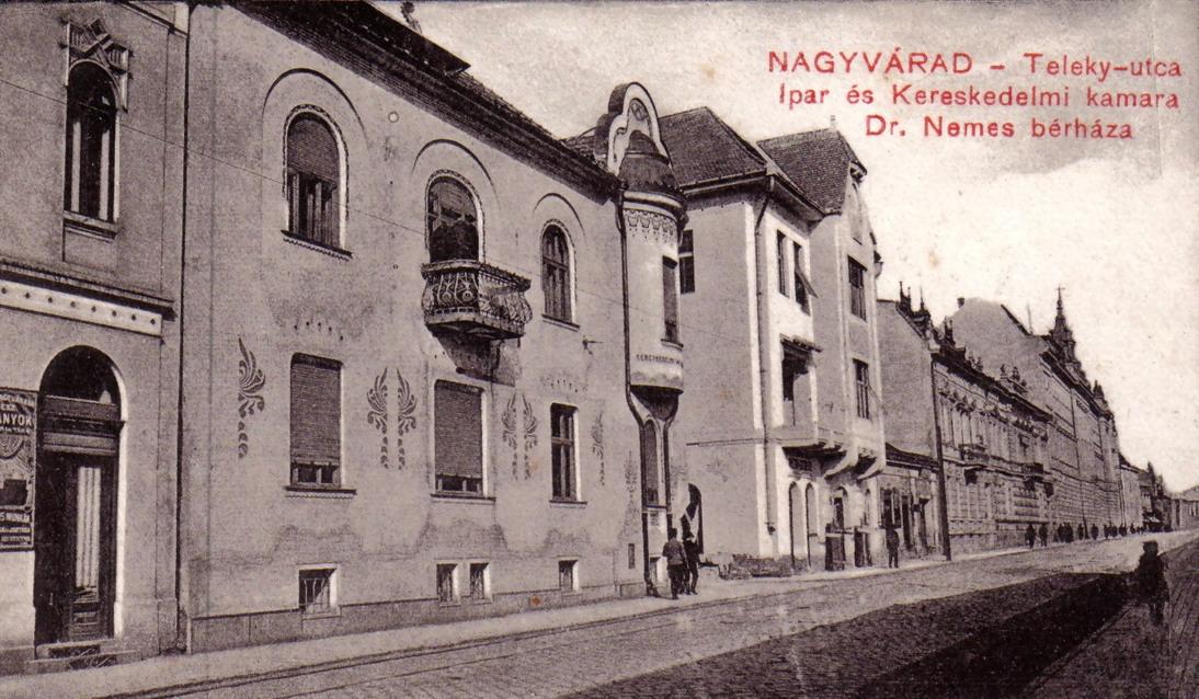 A palota egy régi képeslapon. Kép: biharmegye.ro