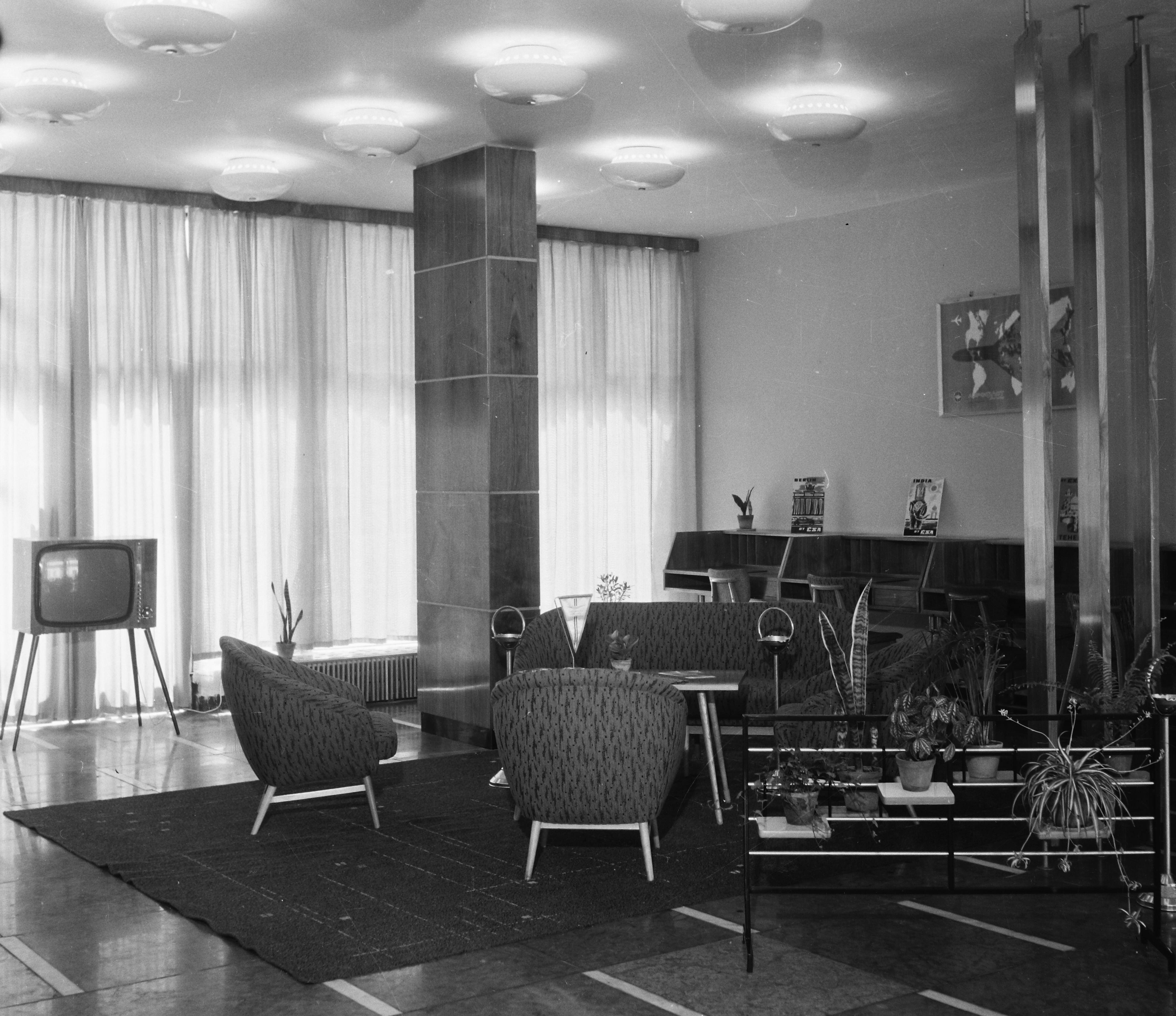 A Fürdő Hotel társalgója 1967-ben. Kép: Fortepan/Bauer Sándor