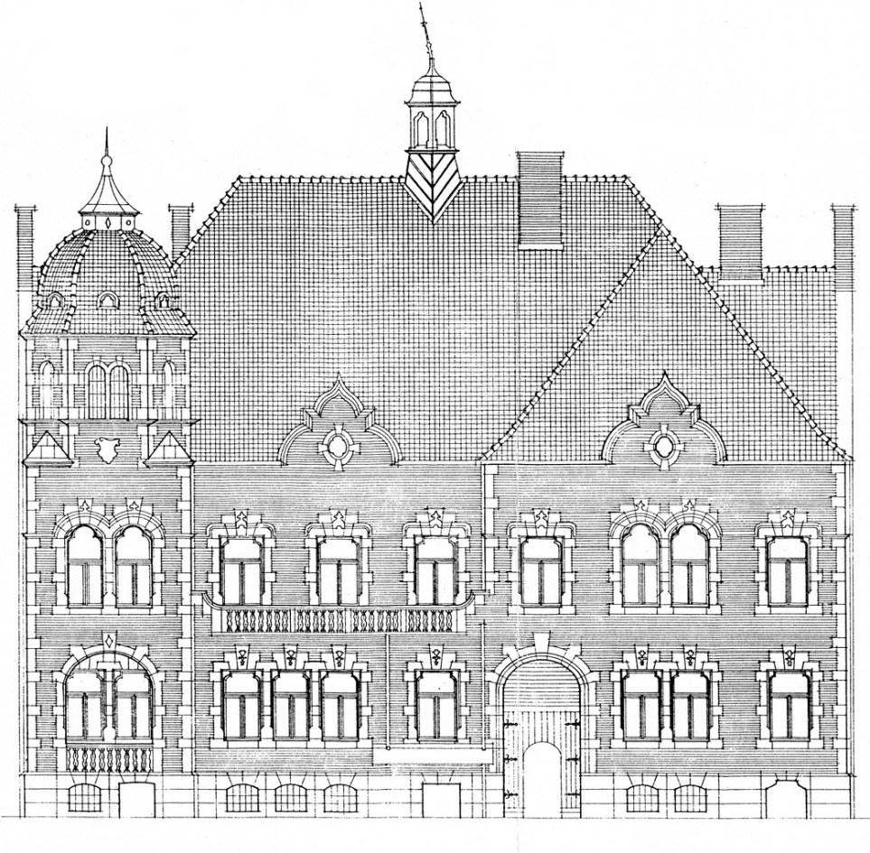 A homlokzati terv. Kép: heritage-su.org.rs