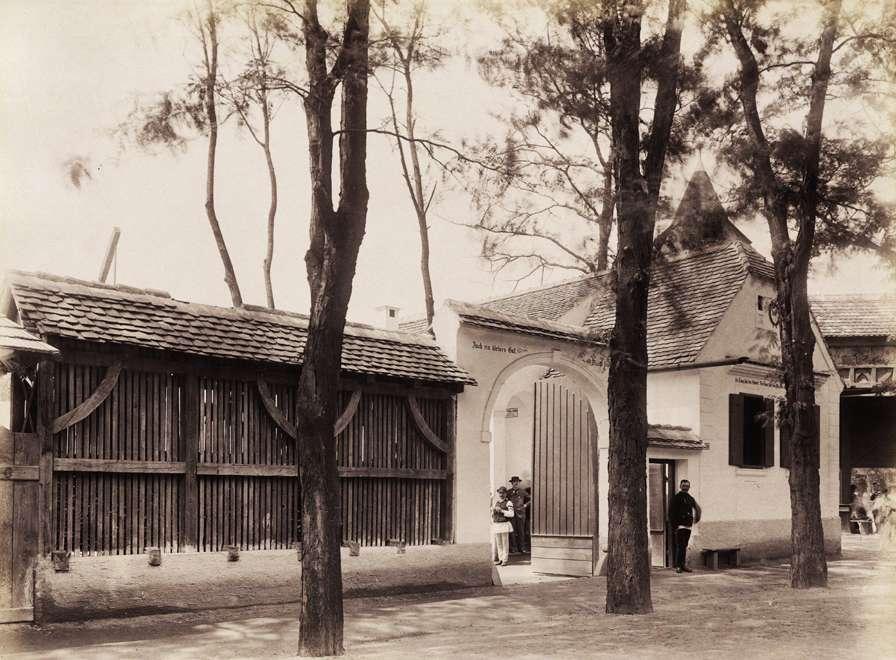 A Szeben megyei szász ház (Néprajzi Falu).<br /><br />Forrás: Fortepan / Budapest Főváros Levéltára. Levéltári jelzet: HU.BFL.XV.19.d.1.09.186