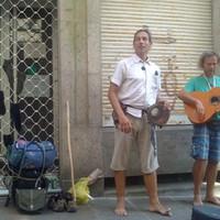 Fiesta Santiagóban - magyar utcazenészekkel