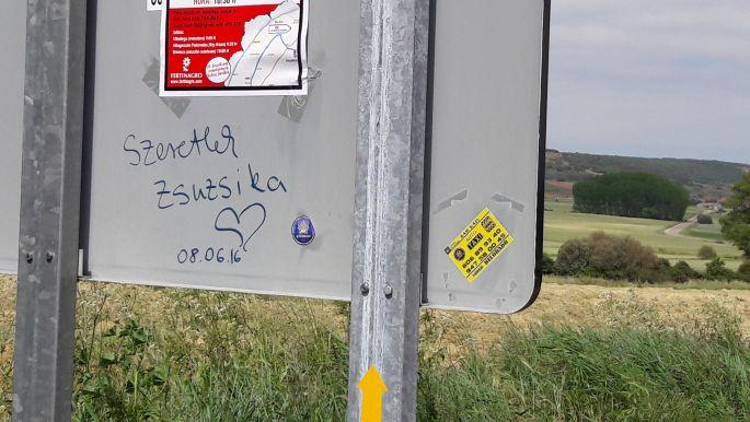 El camino, üzenet Zsuzsikának, előttünk három nappal