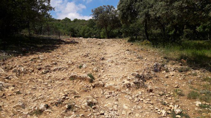 El camino, az atapuercai köves emelkedő