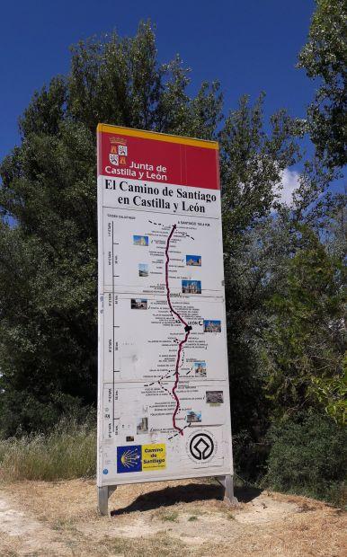 El camino, Kasztília és León autonóm körzet térképe