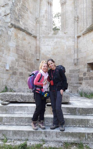 El camino, San Antón kolostor, Bea és Évi :-)
