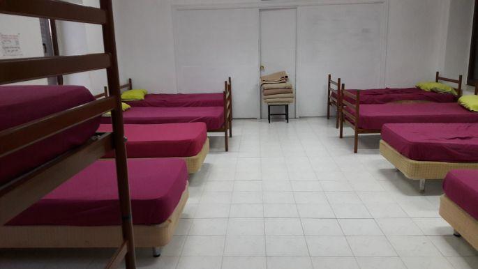 El camino, a municipal albergue szobája, Murias de Rechivaldo.