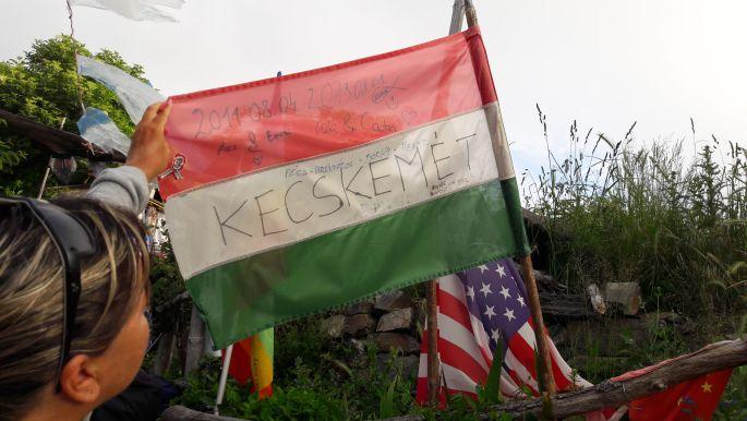 El camino, Manjarín, ... itten pedig egy magyar zászló Kecskemétről :-)