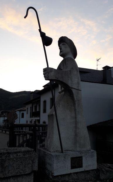 El camino, Villafranca del Bierzo, zarándokszobor