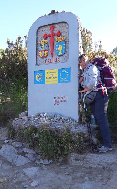 El camino, galíciai határkő Erikával