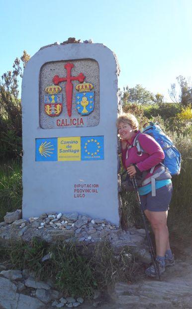 El camino, galíciai határkő és jómagam