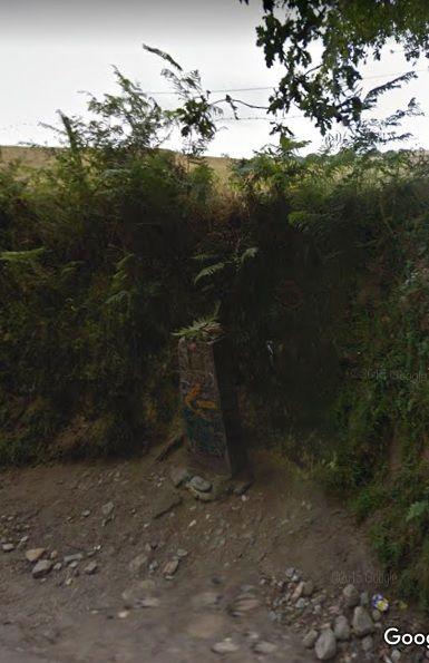 El camino, a régi 100-as útjelző kő a Google Map szerint