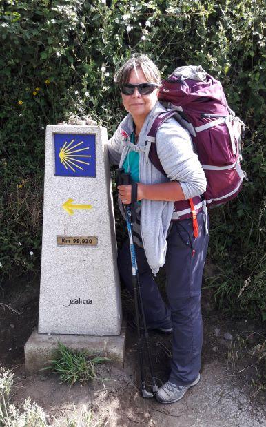 El camino, a majdnem 100-as útjelző kő és Erika
