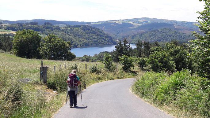 El camino, látkép Portomarín előtt