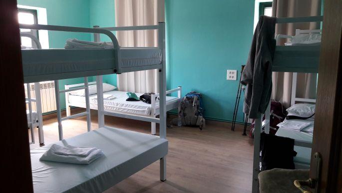 El camino, a szupi albergue Portomarínban, szemben az ágyam :-)