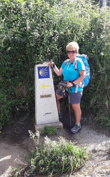 El camino, a majdnem 100-as útjelző kő és én