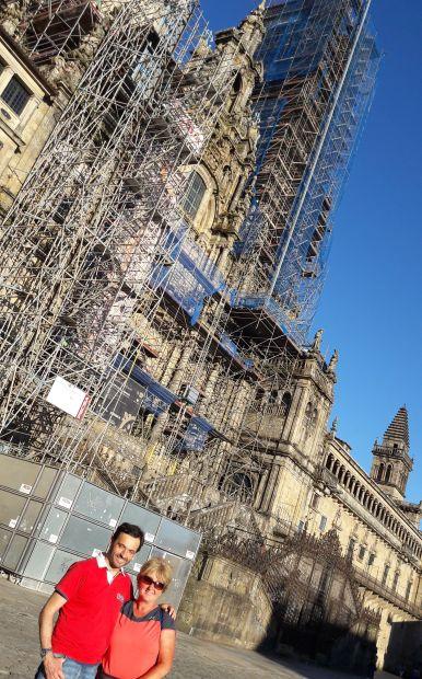 El camino, Santiago de Compostela, E és én a katedrális előtt :-)