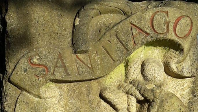 El camino, a lavacollai Santiago kő