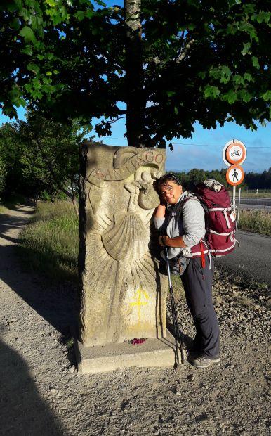 El camino, a lavacollai Santiago kő Erikával