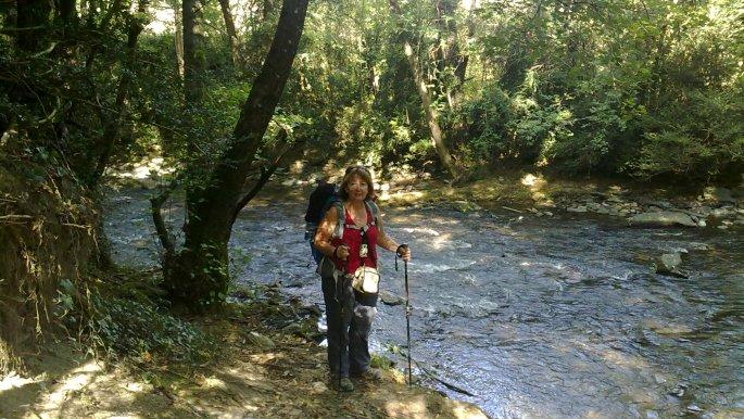 Andrea a folyóparton 2011-ben.