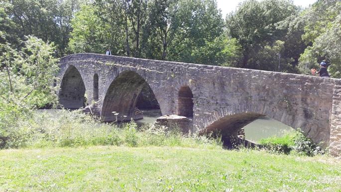 A Magdaléna híd Pamplonában.