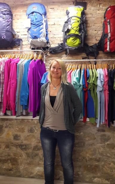 Anita, a Caminoteca egyik magyar tulajdonosa.