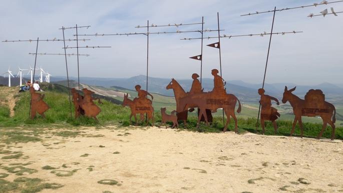 El camino, Alto del Perdón zarándok emlékmű