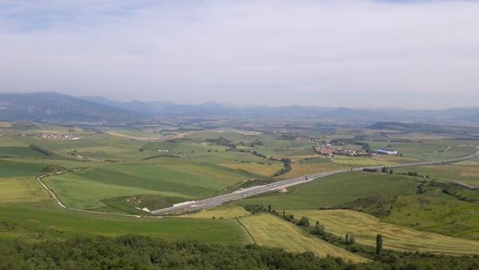 El camino, kilátás az Alto del Perdón tetejéről