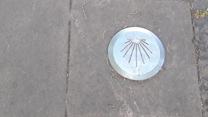 El camino, Pamplona, kagylós jel