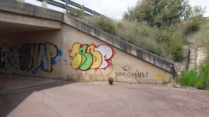 El camino graffiti.