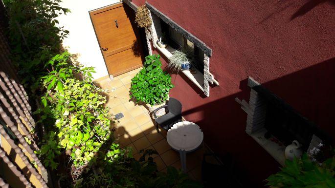 Ventosa, az albergue belső udvara