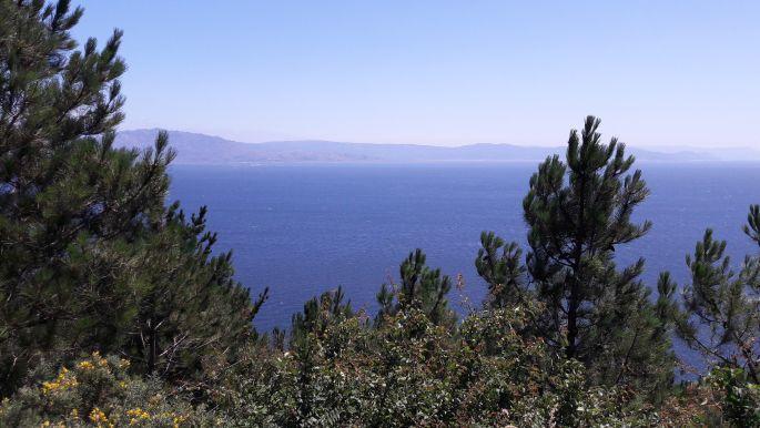El camino, Finisterre, távolban a végtelen óceán