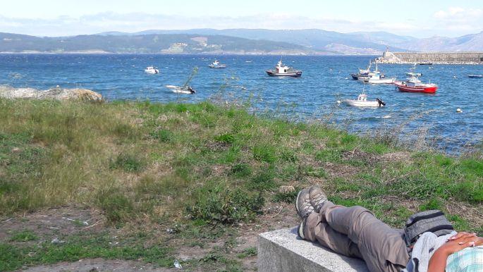 El camino, Finisterre, víz és csónakok, egyeseknek meg leesett a vérnyomása :-)