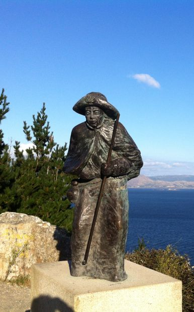 El camino, Finisterre, zarándokszobor