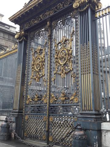 Díszes kapu a Sainte Chapelle templomnál