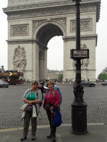 Párizs, Diadalív, Erika, Andrea