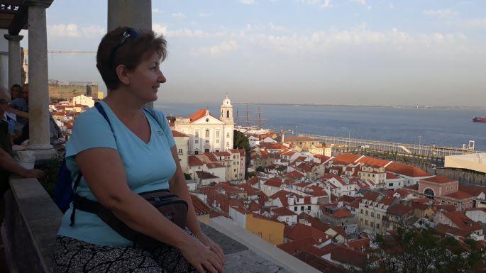 Lisszabon, Miradouro de Santa Luzia kilátó és jómagam