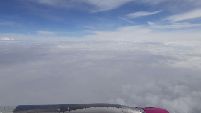 Aztán a felhők fölé szálltunk...