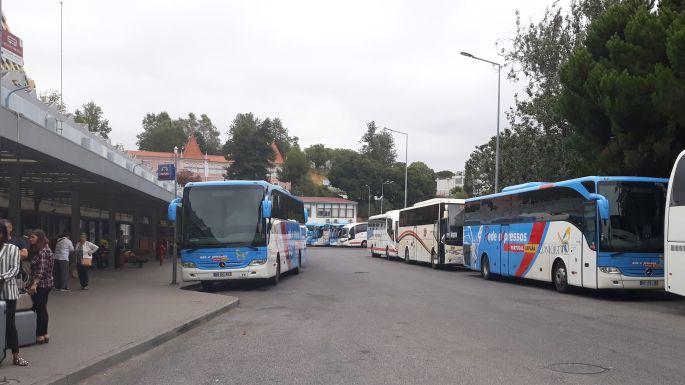Portugál camino, Sete Rios buszpályaudvar, Lisszabon
