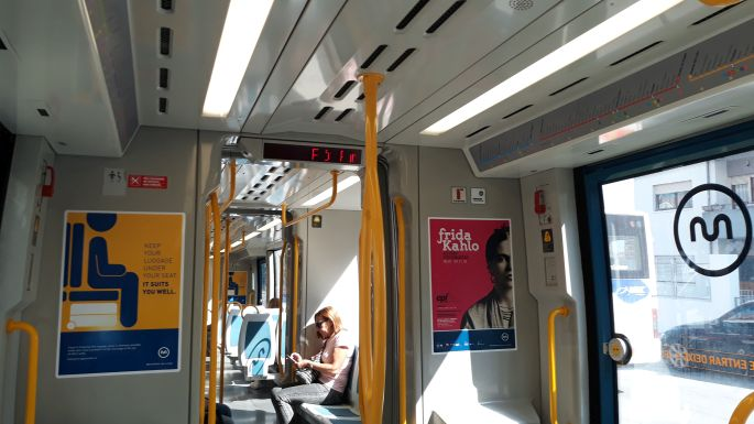 Portugál camino, Porto, metro