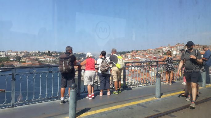 Portugál camino, Porto, Lajos híd