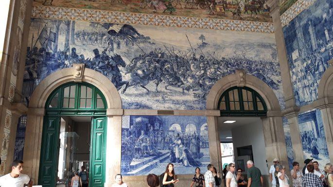 Portugál camino, Porto, Sao Bento pályaudvar