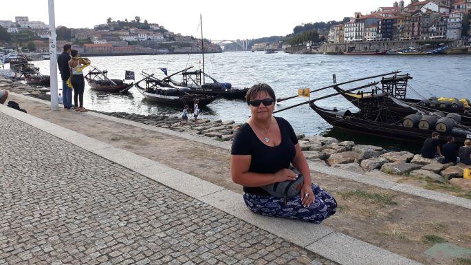 Portugál camino, Porto, parti sétány Erikával