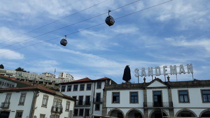 Portugál camino, Porto, parti sétány libegővel