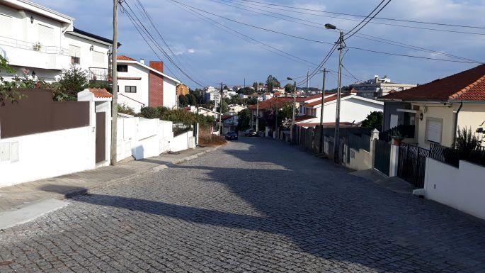 Portugál camino, köves út