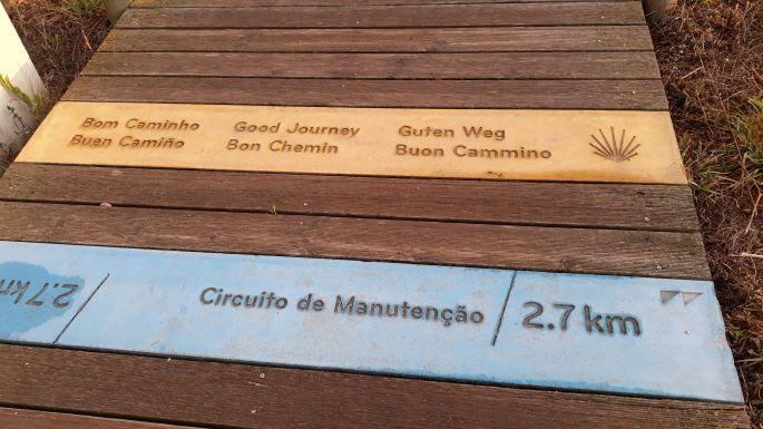 Portugál Camino de la Costa, deszkapallók